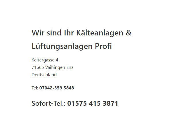 Kälteanlagen für  Ludwigsburg, Kornwestheim, Asperg, Freiberg (Neckar), Möglingen, Tamm, Remseck (Neckar) oder Benningen (Neckar), Marbach (Neckar), Bietigheim-Bissingen