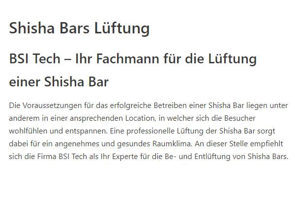 Shisha Bars Lueftung